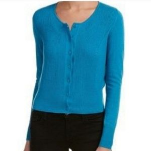 CAbi Heather Turquoise Blue Darby Cardigan